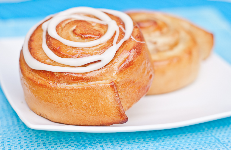 This has got to be the most perfect Cinnamon Roll.