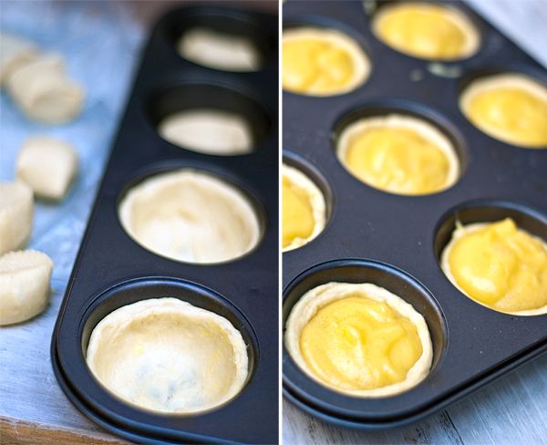 Pastry in cups
